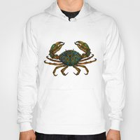 crab Hoodies featuring CRAB by Claire Cousins