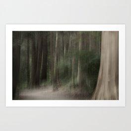 Phantoms through the Forest Art Print