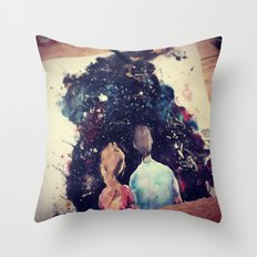 Universe Couple Throw Pillow
