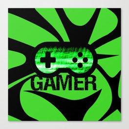 Gamer Green V2 Canvas Print