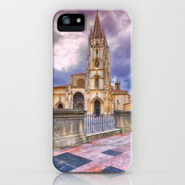 Cathedral of San Salvador  in Oviedo. iPhone Case