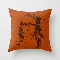 Modern Lisa (orange) Throw Pillow