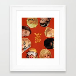 Look at You! Framed Art Print