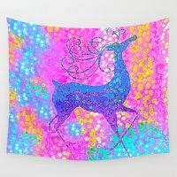 reindeer Wall Tapestries featuring ReinDeer  by Saundra Myles