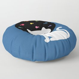 Cats Fantasy Floor Pillow