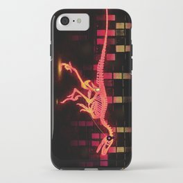 Bright Colored Neon Dinosaur iPhone Case