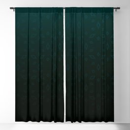 Emerald and Gold Accents Blackout Curtain