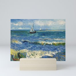 Seascape near Les Saintes-Maries-de-la-Mer by Vincent van Gogh Mini Art Print