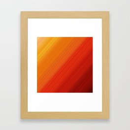 Linear Fire Framed Art Print