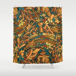 Vintage ornament Shower Curtain