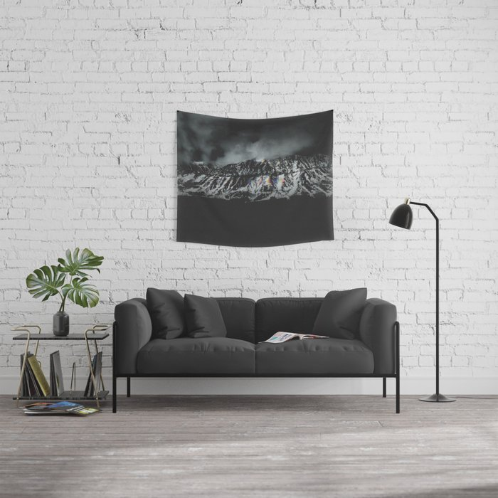Mountain Channels Wall Tapestry