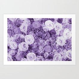 bouquet ver.purple Art Print