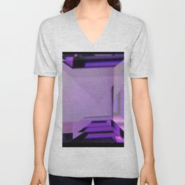 PURPLE FEBRUARY AMETHYST GEMS Unisex V-Neck