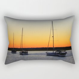 Sailing Into The Sunset Rectangular Pillow