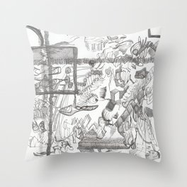Austerity Assessor Throw Pillow