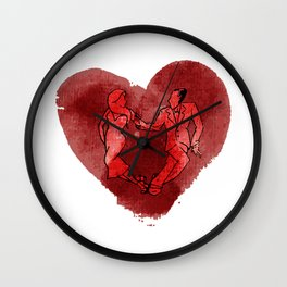 Colgada de Corazon Wall Clock