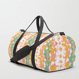 Gorgeous Frangipani Striped Pattern Duffle Bag