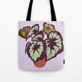 Begonia Houseplant Illustrated Print Tote Bag