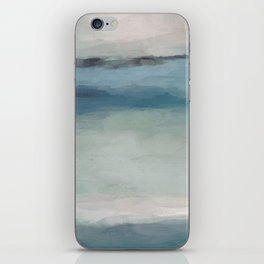 Abstract Painting, Light Blue, Teal, Sage Green Prints Modern Wall Art, Affordable Stylish iPhone Skin