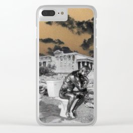 Thinking man aesthetic Clear iPhone Case