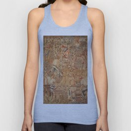 The Allegory of Work landscape by Hans Lohbeck Unisex Tank Top