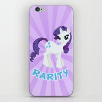 mlp iPhone & iPod Skins featuring MLP FiM: Rarity by Yiji