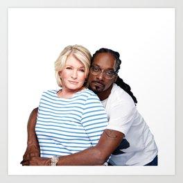 Martha & Snoop Art Print