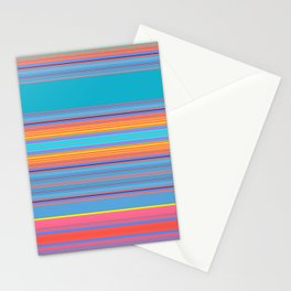 Bold Color Rainbow Stripes Stationery Cards