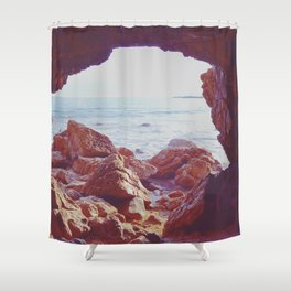 Waiting by the Sea Shower Curtain