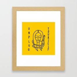 unplug yourself Framed Art Print