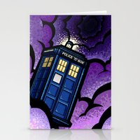 tardis Stationery Cards featuring Tardis by Jelly Soup Studios