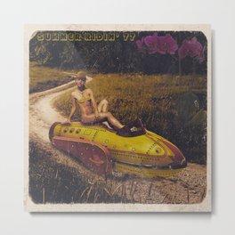 Summer Ridin' 77 - Censored Metal Print