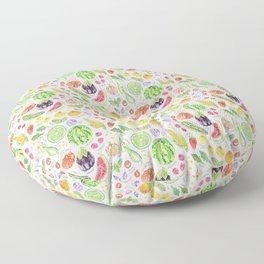 Summer Harvest Pattern Annotated Floor Pillow