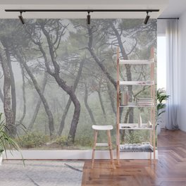 Forest dance. Into the foggy woods. Wall Mural