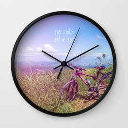 bike = freedom Wall Clock