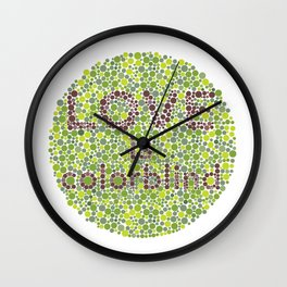 Love is Colorblind Wall Clock