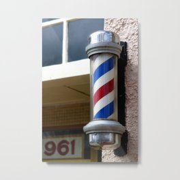Barber Sign Metal Print