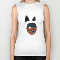 princess mononoke Biker Tanks featuring Mononoke by KoryDemers
