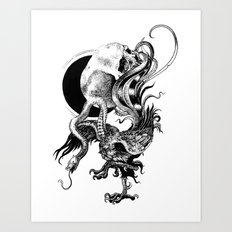 Silver And The Beast Art Print