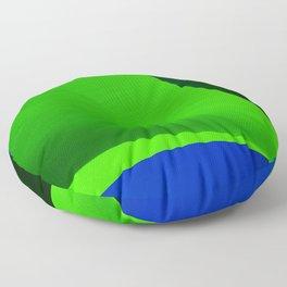 Green Taking Shape Floor Pillow