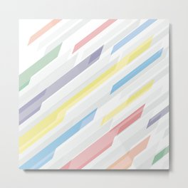 Tech geometric colorful lines background #society6 #decor #buyart #artprint Metal Print