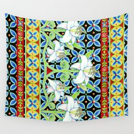 Elizabethan Folkloric Lily Wall Tapestry