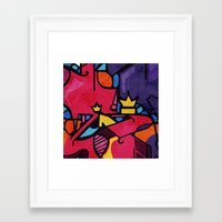 crown Framed Art Prints featuring Crown by Arcturus