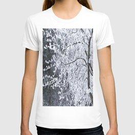 Snowy Tree Branches Winter Scene #decor #society6 #buyart T-shirt
