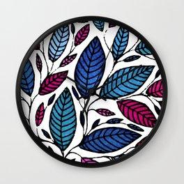 Floral Botanical Watercolor Leaves Leaf Art Illustration (P011 051) Wall Clock