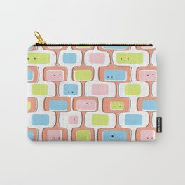 Retro geometric faces Carry-All Pouch