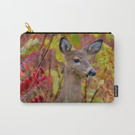 """""""Deer In The Fall Foliage"""" by S. Michael Carry-All Pouch"""