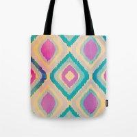 ikat Tote Bags featuring URBAN IKAT by Nika