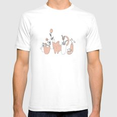 Fatty cat White SMALL Mens Fitted Tee