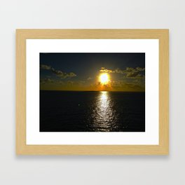 Sun Set By The Sea Framed Art Print